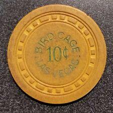 Rare Poker Chip Bird Cage Casino 1958-9