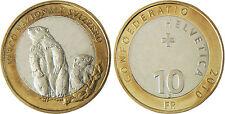 SUISSE  ,  10  FRANCS   PARC NATIONAL MARMOTTE  2010 B   SUPERBE A FDC