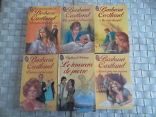 LOT DE 6 ROMANS BARBARA CARTLAND EDITIONS J'AI LU