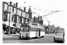 pt9055 - Blackpool Tram no 291 to Cleveleys  in 1963 - photograph
