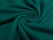 Stoffrest 23x145cm Strickstoff 100% Merino Merinostrick Wolle uni petrol grün