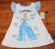 New DISNEY PRINCESS CINDERELLA NIGHTGOWN sz 5 6 Girls Blue Pajamas Disney  Store 1b7c90014