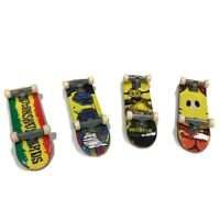 Tech Deck Lot of 4 Smiley Face Rasta Dark Star Red Yellow Green Mini Skateboards