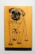 Pug Stamp Gallery Wood Rubber Mounted NEW