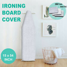 Electric Ironing Board Cover &Pad 3Layer Silicone Coated Cover Heavy Duty 15�x54