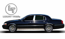 Lincoln TownCar Stainless Steel Chrome Pillar Posts by Luxury Trims 1998-2013 6p