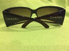 Authentic CHANEL Sunglasses (#6012) with Dustbag, Case, Box, & Paperwork- Brown