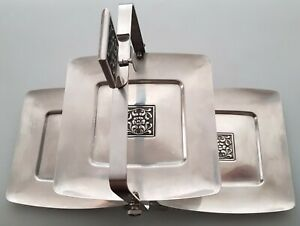 Wiltshire burgundy folding stainless steel cake/sandwich stand