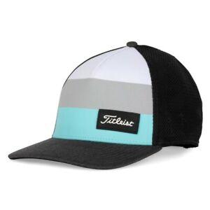 NEW Titleist Golf Surf Stripe Mesh Back Cap - Aqua - One Size Fits Most