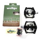 """Wellgo WAM-D10 DH Magnesio 9/16"""" Clipless Pedales para Bici Montaña - Negro"""