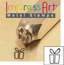Metal stamp, punch, gift box, present, christmas present, gift - 6 mm