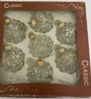 VINTAGE Classic West Germany CHRISTMAS  Ornaments 7 Balls Clear Glass Glitter