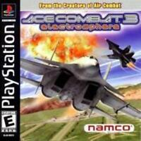 Ace Combat 3 Electrosphere Playstation Game PS1 Used Complete