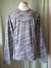 "Mens Marc Ecko Cut & Sew Lt Gray LS Camo Camouflage T-Shirt NWT $54.50 M 37"" SL"