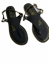 Sam & Libby Women's Size 8.5   Black  Harmony Thong Sandals  Target T Strap  #35