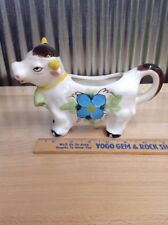 Vintage Painted Cow Creamer Ceramic Marked Japan