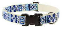 """Lupine 3/4"""" Microbatch Fair Isle Pattern Dog Collar - New with Tags LE"""