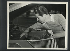 JACKIE COOPER WORKS ON HIS CAR - 1938 CANDID PHOTO - FORMER LITTLE RASCAL