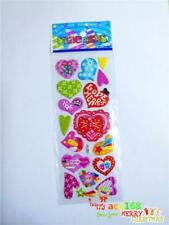 1PC Stickers Kids Xmas Gift Puffy Cartoon Love Hearts 3D PVC Lot Craft Party Toy