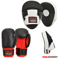 Boxing Focus Pads Set Hook and Jab Pro Fight Training Bag Mitts Punch Gloves MMA