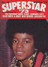 Michael Jackson on Superstar Magazine No.18 Cover 1973 Marc Bolan David Cassidy