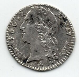 LOUIS XV 1/10 ÉCU ARGENT AU BANDEAU 1764 A !