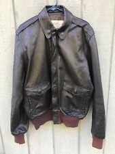 Men's Vintage BRIGADE QUARTERMASTERS A-2 Leather Bomber Flight Jacket 44 USA