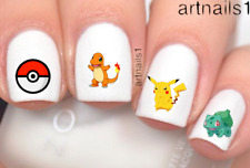 Pokemon Go Anime Nail Cosplay Pikachu Nails Water Decals Stickers Salon Polish