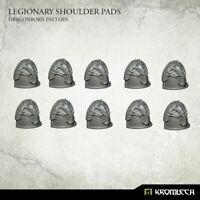 Kromlech Legionary Shoulder Pads: Dragon Pattern (10) Brand New KRCB235
