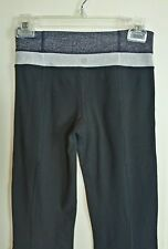 Lululemon Size 2 Ghost Herringbone Waistband  Groove Yoga Pants Black