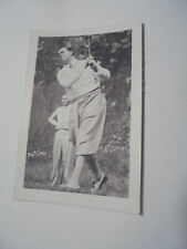 trading card Walter Hagen Golf 1932 4x6cm Bulgaria