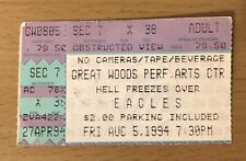 1994 The Eagles Hell Freezes Over Tour Great Woods Boston Concert Ticket Stub