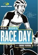 REAL RIDES RACE DAY with ROBBIE VENTURA INDOOR CYCLE TRAINING DVD BRAND NEW