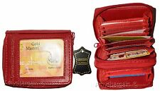 Lot of 2 Leather Card case ID Mini photo wallet credit Card Case small Wall