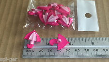 10x New Plastic Umbrella Pink Shanked Buttons for Sewing Craft Clothes Hobbies