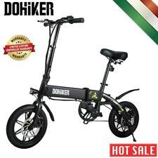 Bicicletta Elettrica Pieghevole Motore 250W Adulto 25KM/H USB LED Display Nero
