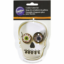 Skull with Eye Halloween 2 pc Metal Cookie Cutter Set from Wilton #2013 - NEW