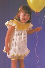 Crochet Pattern ~ Little Girls Dress, Bloomers & Hat ~ Instructions
