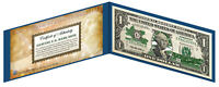 VERMONT State $1 Bill *Genuine Legal Tender* U.S. One-Dollar Currency *Green*