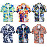 Summer Men's Short Sleeve Shirt Hawaiian Beach Tops Floral Printed Casual Tee