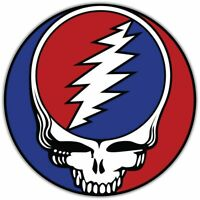 "Grateful Dead Rock Music Car Bumper Window Sticker Decal 4.6""X4.6"""
