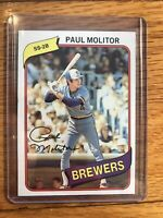 1980 Topps Paul Molitor Milwaukee Brewers #406 Baseball Card