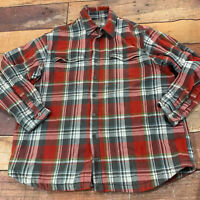 Duluth Trading Company Mens Flannel Jacket Shirt Size 2XL Tall XXL