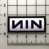 "NIN Nine Inch Nails Logo 4"" Wide Color Vinyl Decal Sticker BOGO"
