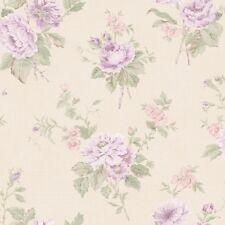 g67290 Jardin schick creme grün & lila Blumenmuster Galerie Tapete