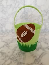 Football novelty felt  basket.  Great for Easter or collecting Halloween candy.