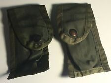 VINTAGE MILITARY POCKET AMMUNITION POUCHES WWII 9MM USA INFANTE US ARMY MARINES