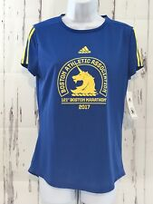 Womens Adidas Boston Marathon 2017 Official Tee T-Shirt Climalite S New Tags!