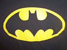 DC Comics Batman Super Hero Logo Black Graphic Print T Shirt - L