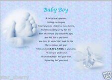 BABY BOY GIFT - new baby personalised keepsake poem